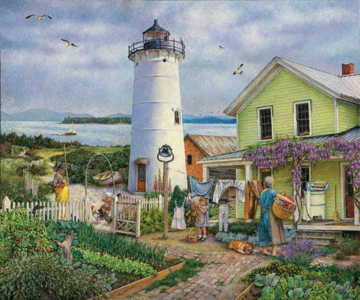 Lighthouse life by Susan Brabeau