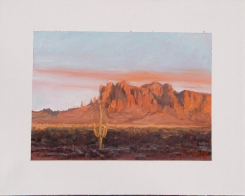 Superstition Mountain Shadows by John Horejs