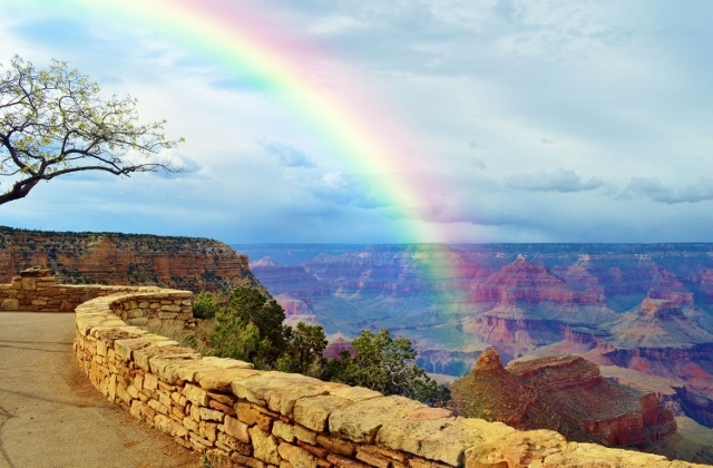 Grand Canyon Rainbow by Mattie Mallernee
