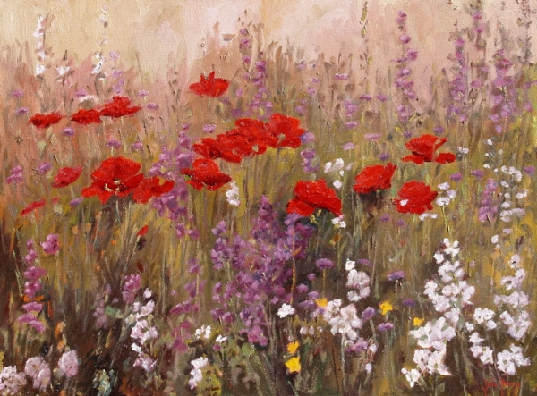 Summer Poppy Garden by John Horejs