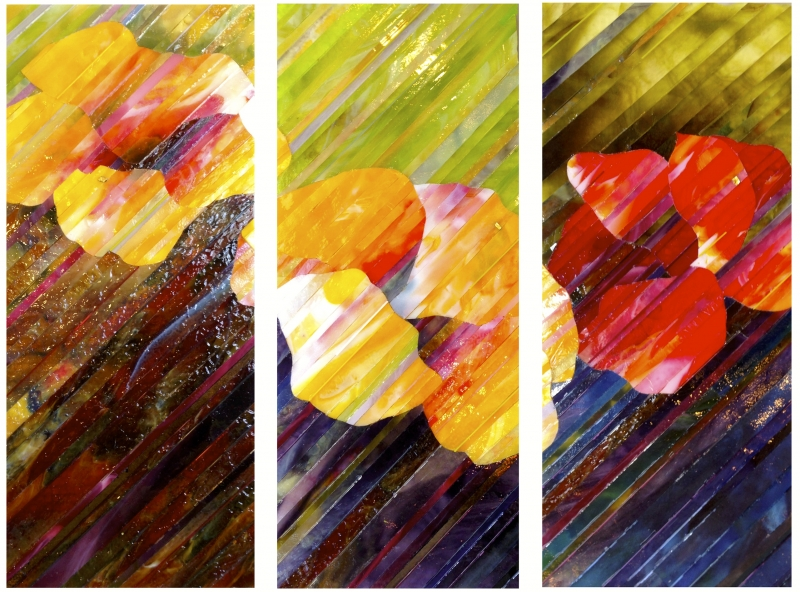 With a Few Others (Triptych) by Terri Albanese