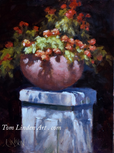 Petals on a Pedestal by Tom Linden