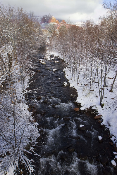 Winter Beauty Of Oak Creek by A O Tucker