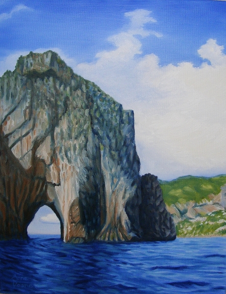 Rock Formation, Capri Island, Italy by Anne Doane