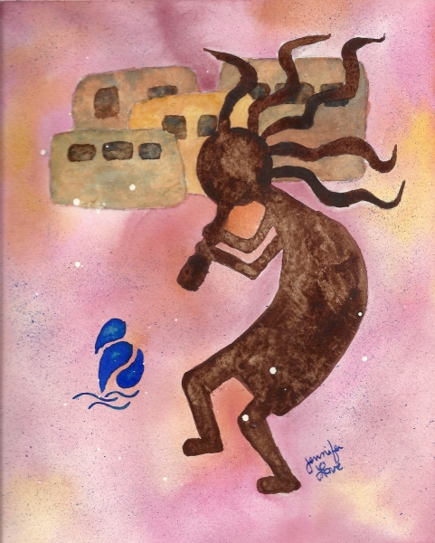 Kokopelli Water by Jennifer Love