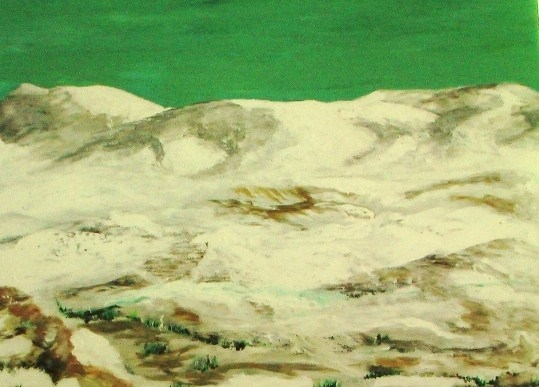 SOLD...(#249) Snow Swept Mountains by Lee Pierce