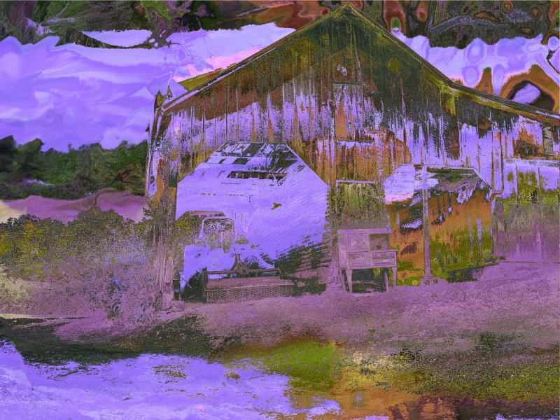 Mike's Lavender Dream Barn by Allen Hirsh