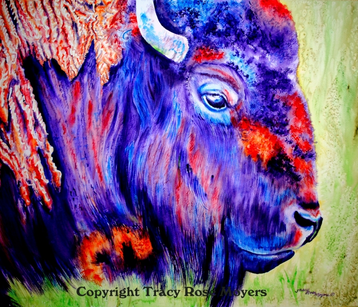 Purple Buffalo by Tracy Rose Moyers