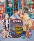 Sidewalk Checkers by Susan Brabeau