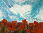 Sky With Poppies by Christina Schott