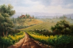 Chianti Vineyards by Lucy Dickens