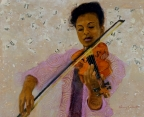 Solo Violinist by Nancy Calcutt