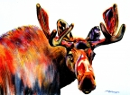 Moose In Orange by Tracy Rose Moyers