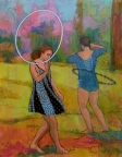 Hooping at the Purple Toad by Nancy Calcutt