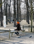 Pensive in the Tuileries by Howard E. Fineman