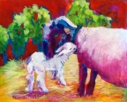 Ewe #1084 and Lamb by Linda Hendrickson