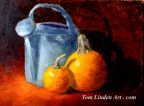 Pumpkins and Water Can by Tom Linden