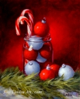 Candy Canes and Ornaments by Tom Linden