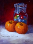 Apples with Marble Jar by Tom Linden