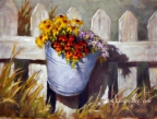 Bucket of Blossoms by Tom Linden
