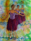 Three Ballerinas by Nancy Calcutt