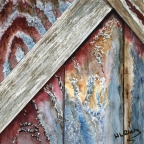 The Barn on York Road - Detail #2 by Helen L. Rietz
