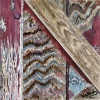 The Barn on York Road - Detail #3 by Helen L. Rietz