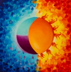SOLD Balancing Sun And Moon Energies by Deb Breton