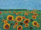 Field of Sunflowers by Kathleen Hall