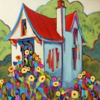 Terwilliger Cottage by Carolee Clark