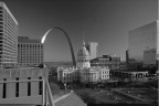 The Old Courthouse BW by David Coblitz - The St. Louis Artographer