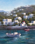Mykonos Harbor by Lucy Dickens