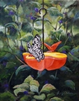 Butterfly Encounter by Lucy Dickens