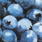 Wild Blueberries by Amelia Kay Wall