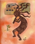 Kokopelli Earth by Jennifer Love