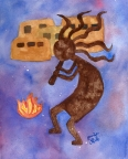 Kokopelli Fire by Jennifer Love
