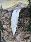 Animals at the Waterfall by Karen S. Gammage
