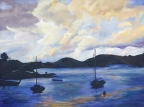 St Thomas Bay by Moonlight by Karen S. Gammage