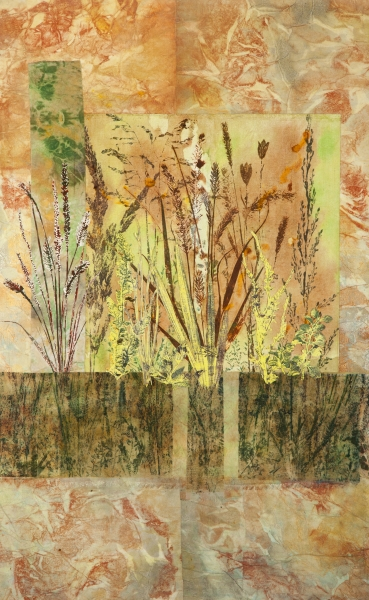 Beyond the Stone Wall by Linda Snouffer,Botanical Printmaker