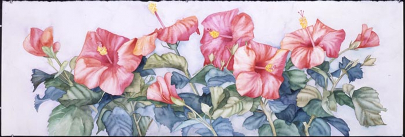 Hibiscus #4 by Joan Metcalf