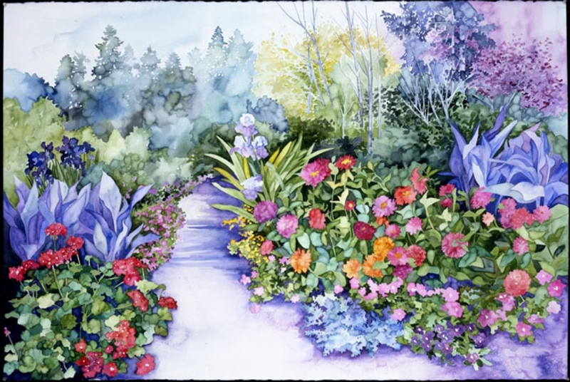 September Garden by Joan Metcalf