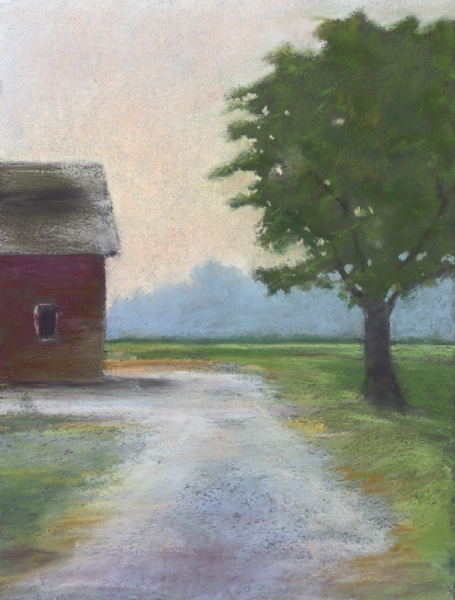 barn and tree by Jane E Voorhees