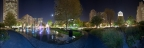 City Garden Night Panorama by David Coblitz - The St. Louis Artographer