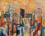Manhattan Towers IV by Sharon Sieben