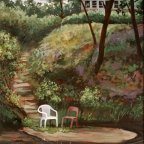 Chairs by Hollow Rock Creek by Emily Eve Weinstein