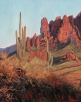 Evening Light at Lost Dutchman Park  by John Horejs