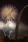 Fireworks by Arch by David Coblitz - The St. Louis Artographer