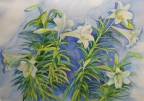 Easter Lilies by Joan Metcalf