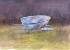 So Much Depends upon a Blue Wheel barrow by Jane E Voorhees
