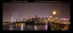 Downtown St. Louis at Night with Eads Bridge by David Coblitz - The St. Louis Artographer